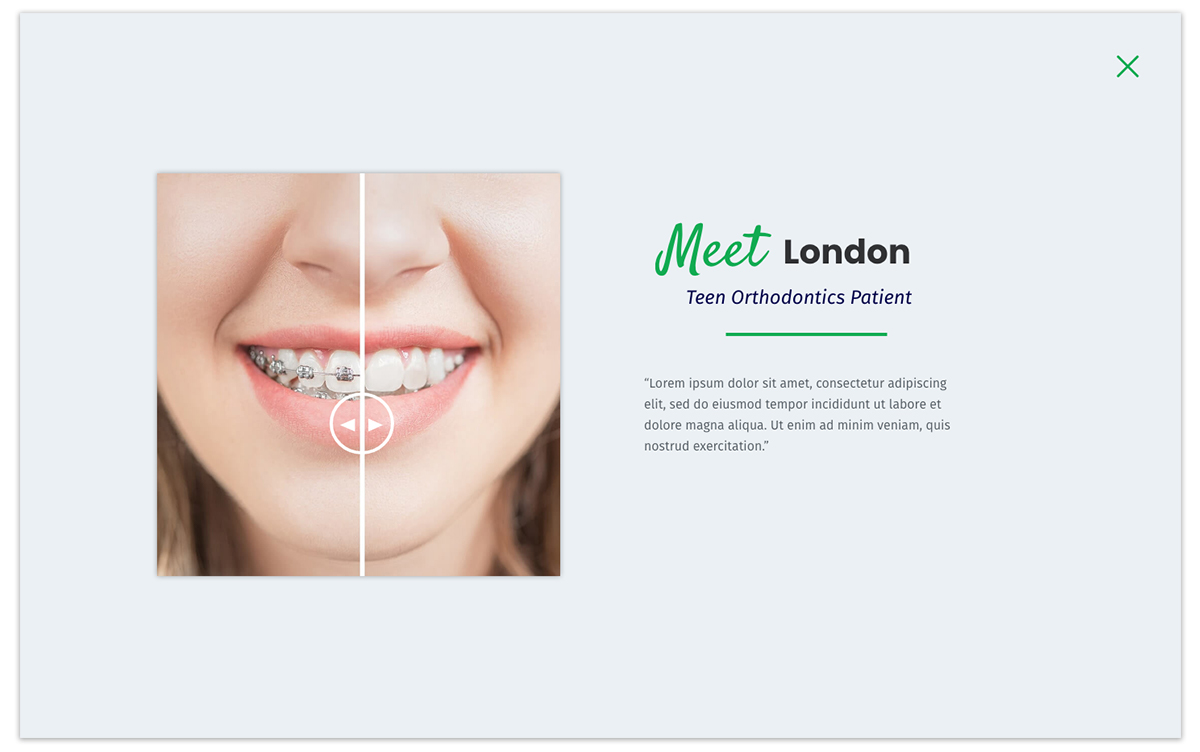 Local Ortho Website Design Example