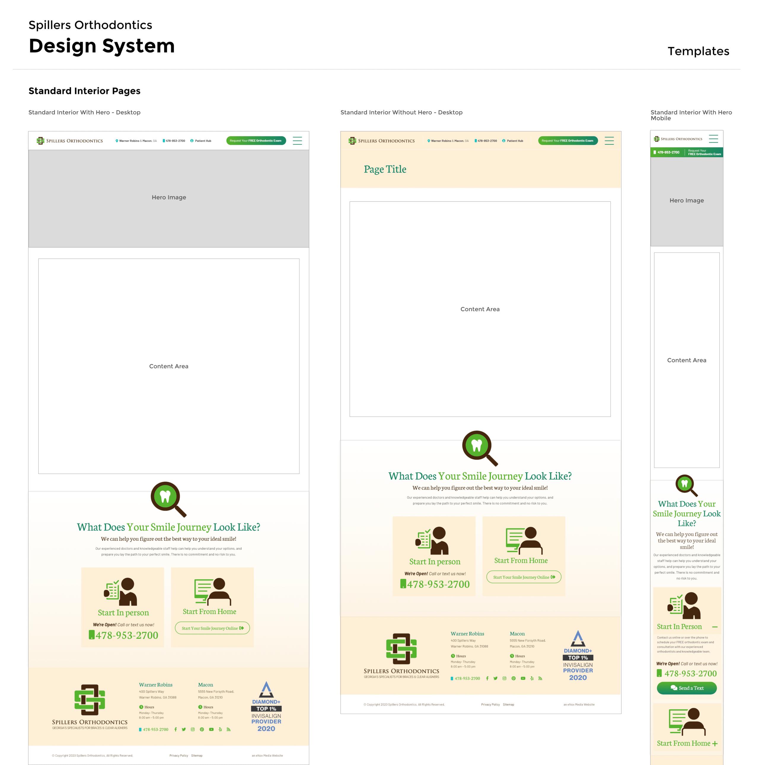 Spillers Design System - Templates