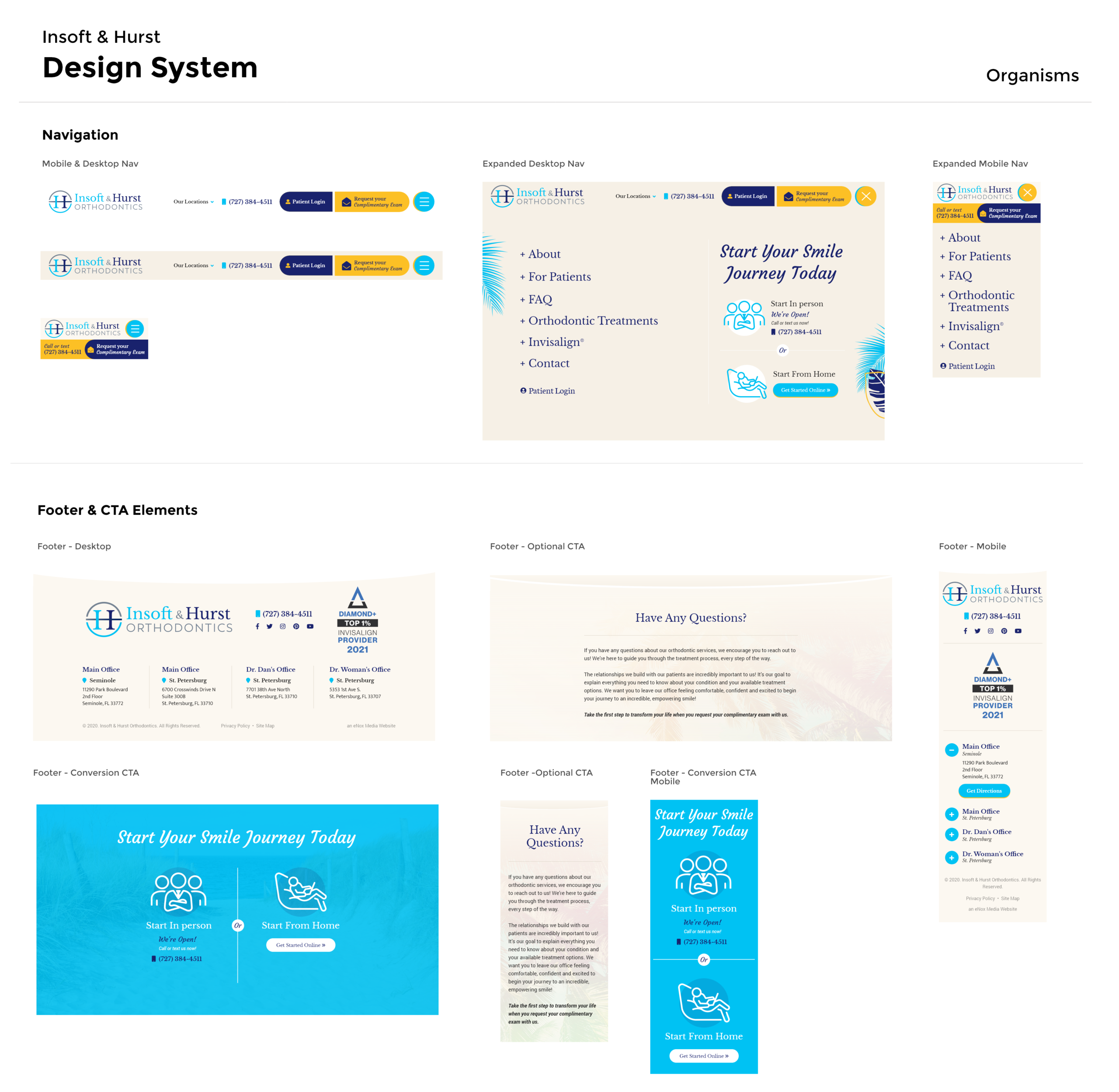 Insoft & Hurst Design System Organisms
